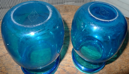 base of Stevens and Williams Princess hyacinth vases