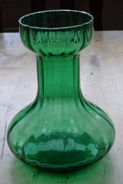 green Two's Company vase