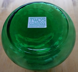 green Two's Company hyacinth vase