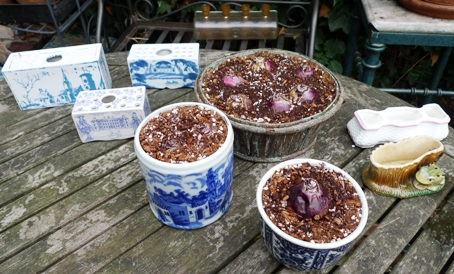 bulb pots and flower bricks