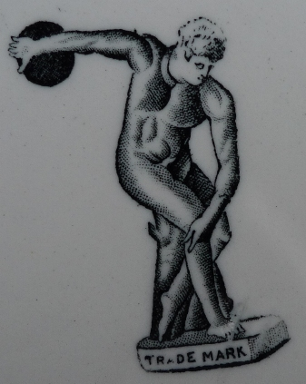Victorian trademark image with Discobolus of Myron