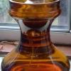 amber hyacinth vase